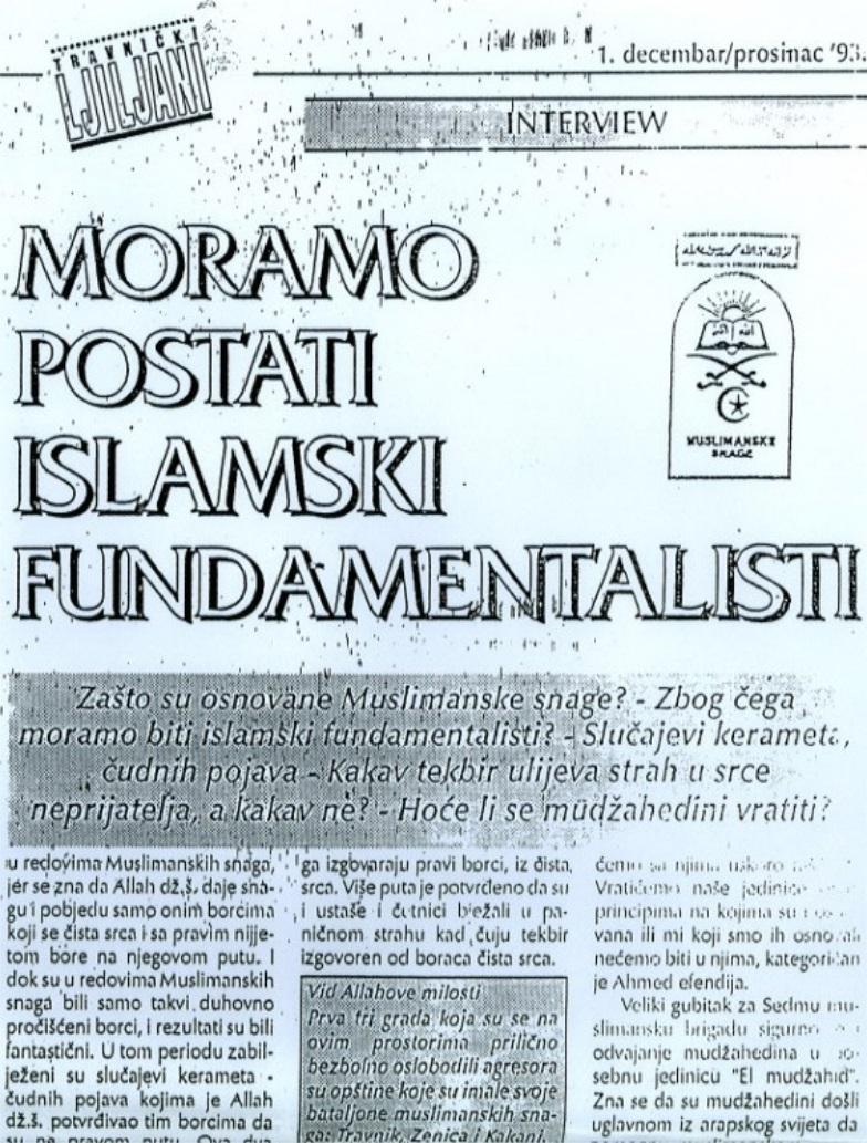 Bosnia radical jihad